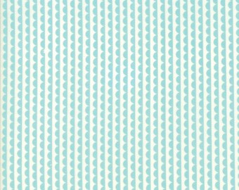 Basics Ruby Scallop Aqua Yardage SKU# 55037-32 by Bonnie and Camille for Moda Fabrics