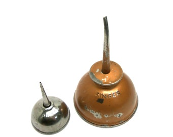 Big and Small Singer Oil Cans Singer Sewing Machine Oilers Pair Sewing Room Decor