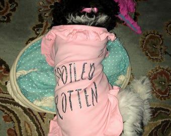 Personalized Dog Frill Shirt, Spoiled Rotten Dog Shirt,