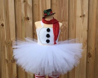 Snowman tutu/ snowman costume/ frosty costume/ santa costume/ holiday costume/ christmas pageant/ pageant/ frosty tutu/ christmas tutu