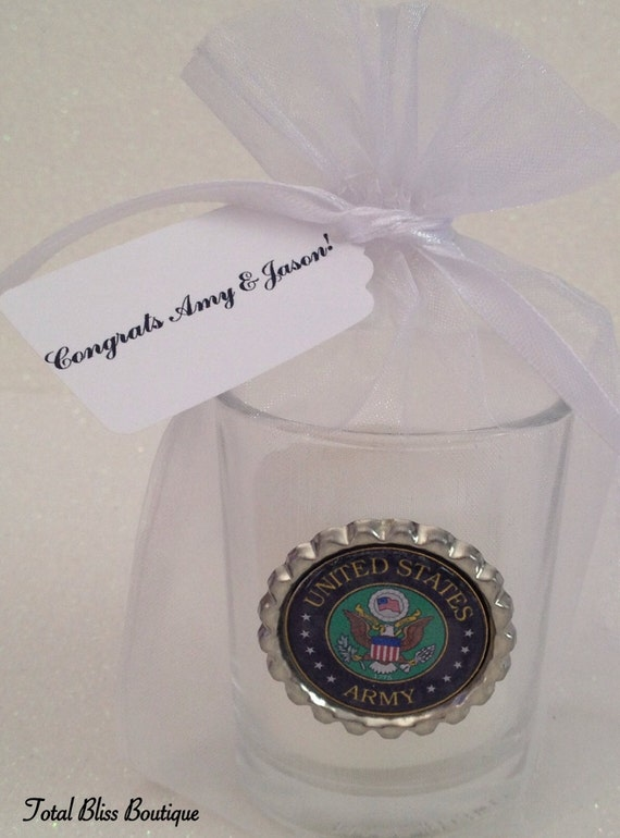 10 US Army Votive Candles Army Wedding Favors Army