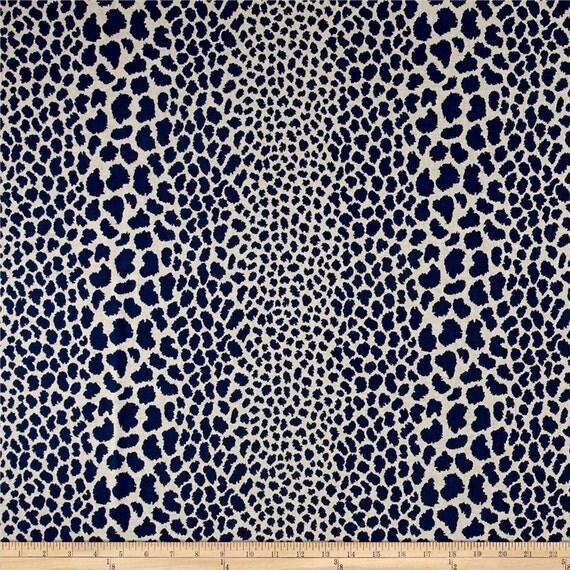 Indigo Blue Animal Print Fabric P Kaufmann Cosmo Indigo Home