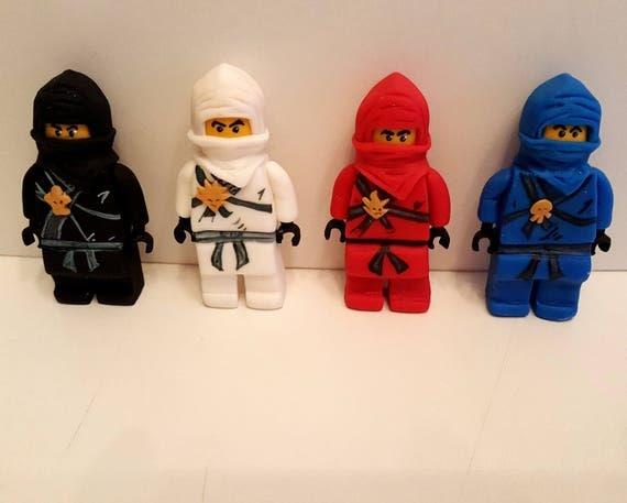 Edible Cake Images Lego Ninjago : ninjago lego inspired fondant edible cake decorations