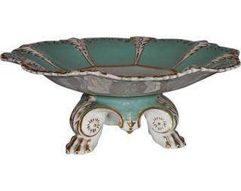 Antique English Regency Porcelain Footed Bow Tazza