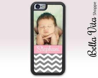Personalized iPhone 5 Photo Case Name Gift Custom Chevron Zig Zag iPhone 5S Case 1181 I5S