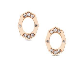 Dainty Diamond Stud Earrings in Gold Jewelry-Affinity Sans Series