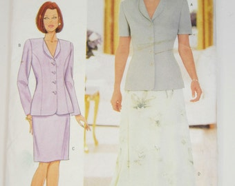 Butterick 5999 Misses' Jacket & Skirt Sewing Pattern Sizes 14 - 18 Uncut