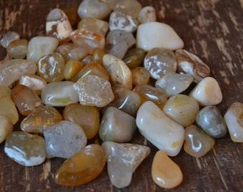 Polished Agates, Oregon Beach Stones, Translucent Agate | 5 Pieces