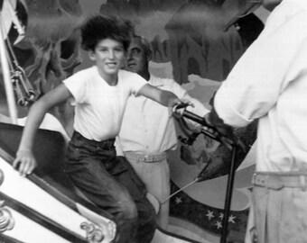 Vintage Photo..Enjoying Rides at Disneyland, 1950's Original Found Photo, Vernacular Photography