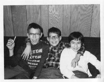 Vintage Polaroid Photo..Sock It To Me, 1960's Original Found Photo, Vernacular Photography