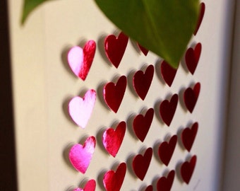 Sale/3D paper hearts/  pink hearts / home decoration/ St Valentines gift / anniversary present / home decor / decor/ love / gift idea