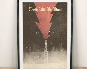 There will be  blood, Giclée movie poster, Fine Art Print, Daniel Day-Lewis, Paul Dano, Paul Thomas Anderson