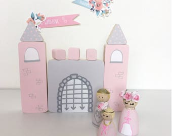 Wooden sectional game Princess and Castle