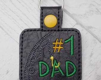 fathers day keychain, dad keyring, fathers day gift, fishing, personalised gift, present for fathers day, daddy gift, keyring, fishing gift