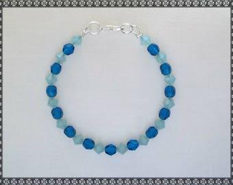 blue bracelet, light blue bracelet, crystal bracelet, blue crystal, blue, capris blue, blue opal, opal