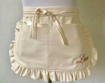 Utility Apron, Made to order, Bridal Shower Aprons, Personalized Aprons, Vendor Aprons