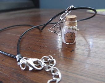 Witches Brew Mini Glass Jar Bottled Necklaces