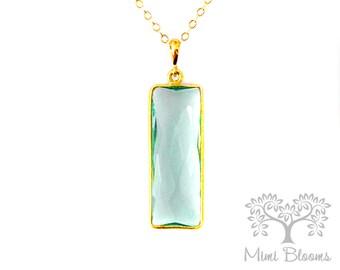 Aquamarine Pendant Necklace, March Birthstone Necklace, March Birthday Necklace, Aquamarine Pendant, Aquamarine Necklace