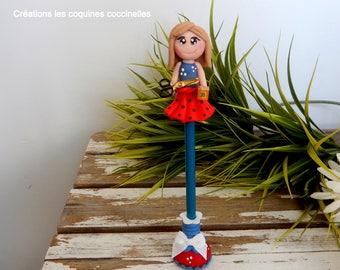 teacher gift, gift daycare, daycare, educator, pencil, decorative pencil, fimo, polymer clay pen pencil, pen, babysitter