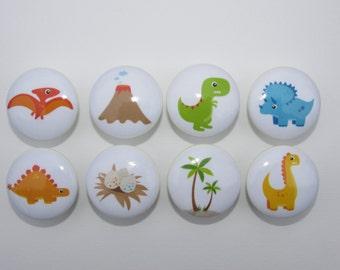 Set of 8 Dinosaur Dresser Drawer Knobs Group 2