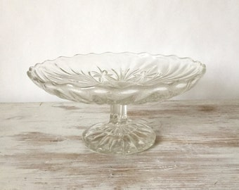 Vintage Fruit Stand/Brownie Stand with floral pattern