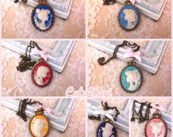 Sailor Moon - Tuxedo - Mercury - Mars - Jupiter - Venus - Serenity  Necklace Collana Cammeo