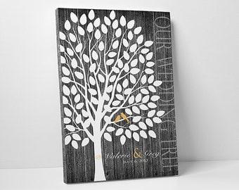Wedding Guest Book Alternative - The Wedding Birch - A Victoria Rossi Design - 55-150 guest sign in - 16x20 Inches