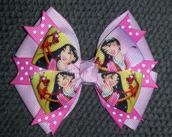 Mulan Handmade Pink Boutique Bow