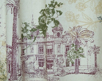 "Cotton Fabric Castle by the yards 64"" Cozy Castle"