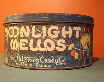 Vintage Moonlight Mellos Canister