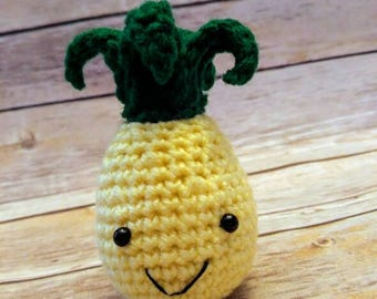 Amigurumi Pineapple - Pineapple Plushie - Cute Pineapple - Stuffed Pineapple toy - amigurumi toy - crochet plushie
