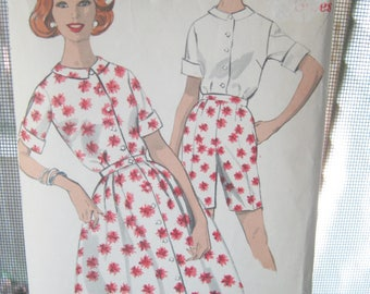Advance So-Easy Printed Pattern, #2953, Size 20 1/2, Skirt, Blouse And Shorts Pattern, 1960's Pattern, Uncut, Unused