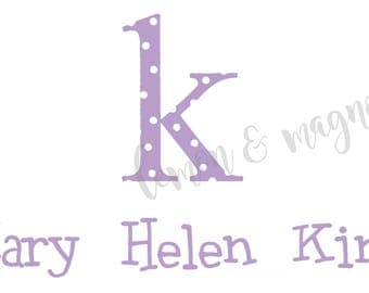Polka Dot Initial Personalized Calling Cards