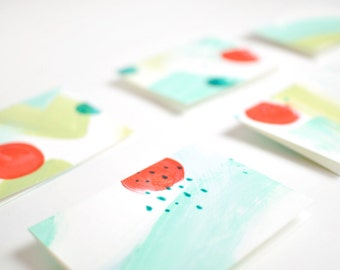 Painted Patterned Cards – Set of 6