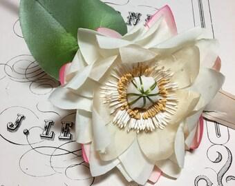 Vintage millinery Waterlily flower-Unique!