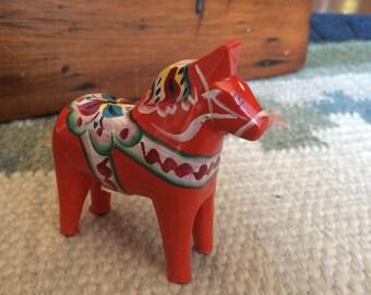 Dala Horse, 3 inch Red Dala Horse, Dalarna Horse, Wood Swedish Horse, Swedish Folk Art, Folk Art Horse, Gift for Her, Horse Lover Gift