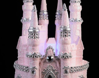 fairy castle wedding cake topper cinderella castle cake topper wedding fairytale with swarovski 14093