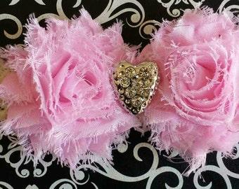 Customizable Valentine's Day Headband, Heart Headband, Pink And Ivory Headband, Baby Headband, Pink Headband, Valentine's Headband