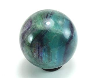 Green Blue Fluorite Sphere, M-2024
