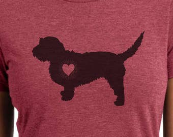 Basset Fauve de Bretagne - Heart Burst - Basset Fauve de Bretagne shirt - Ladies or Unisex cut - Choose your color!
