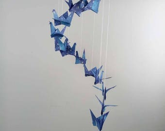 Origami Crane Mobile Children Decor Baby Mobile Nursery-baby mobile-stars and sky