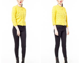 Vintage Soft Yellow Cardigan