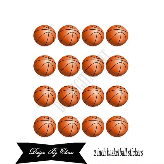 Basketball stickers basketball label orange round tag