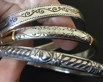 BRIGHTON Bangle PICK 1-3 Stacking Bracelets  Marked B in Heart