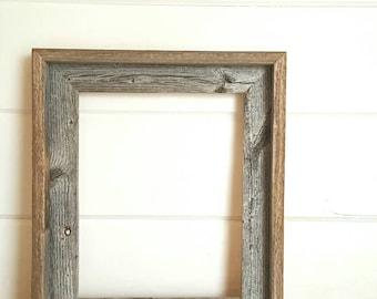 Rustic Barnwood Frame- Open Back- 8x10