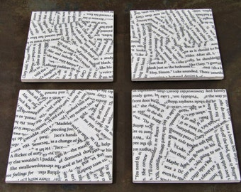 The Mortal Instruments (Cassandra Clare) YA Book Page Coasters // City of Bones // Shadowhunters