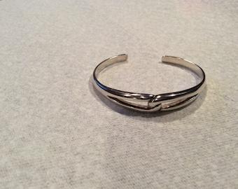 Vintage Sterling Silver Infinity Cuff Bracelet