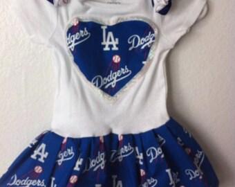 Dodgers onesie dress