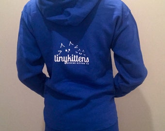 2XL - Royal - Official TinyKittens Hoodie (Unisex) - 100% of proceeds support rescue efforts!
