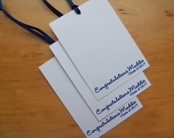 25 Graduation Wish Tree Tags, Personalized, Congratulations Class of 2017, Congrats Grad, Congratulations Graduate, Wishing Tree, Wish Cards